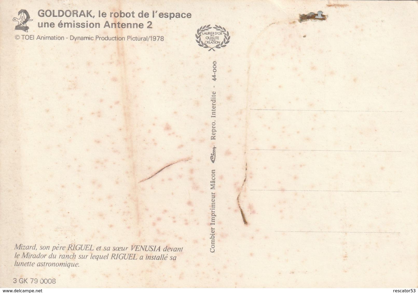 Rare CPSM Goldorak Antenne 2 1978 - Toy Memorabilia