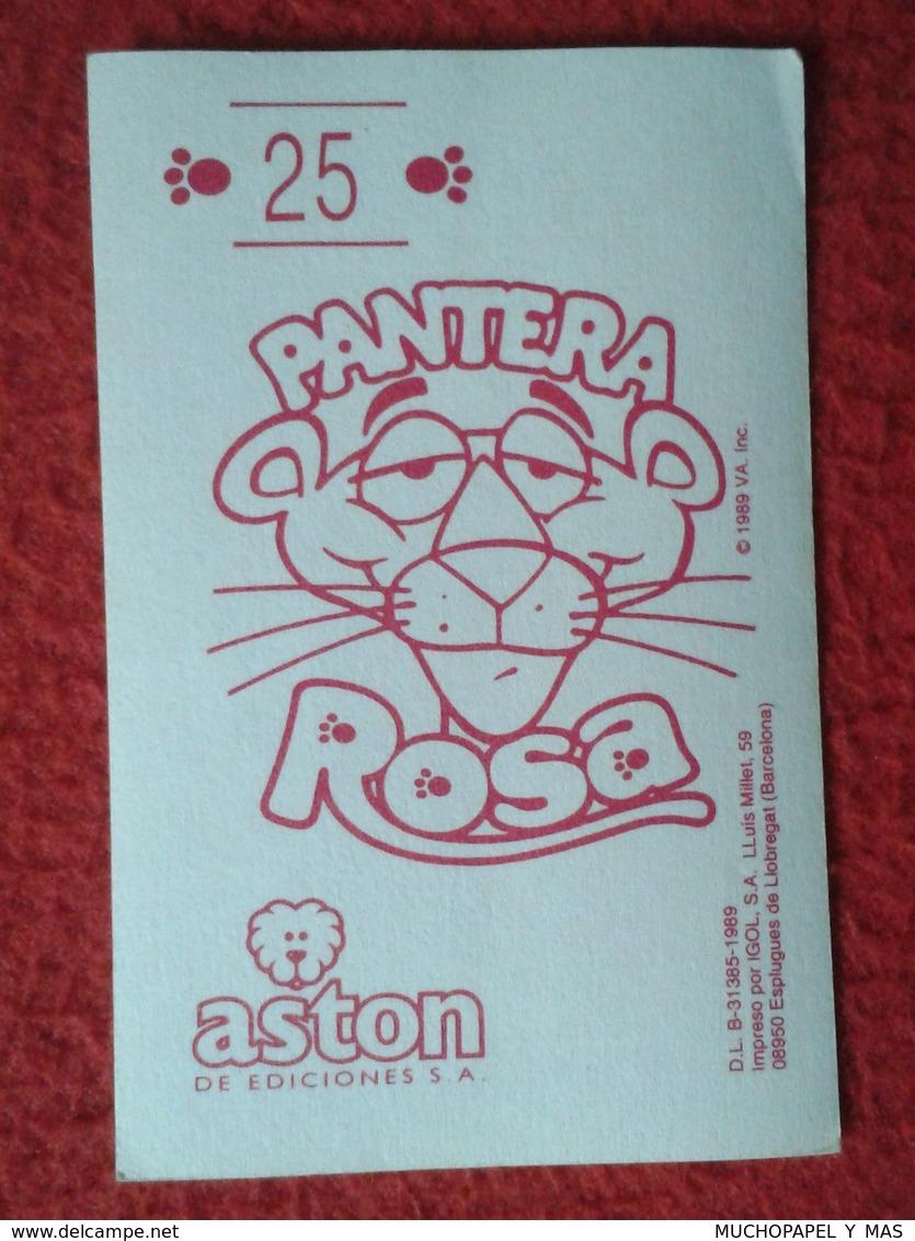 SPAIN 1989 CROMO OLD COLLECTIBLE CARD PEGATINA ADHESIVO STICKER LA PANTERA ROSA THE PINK PANTHER ASTON UNITED ARTISTS VE - Cromos