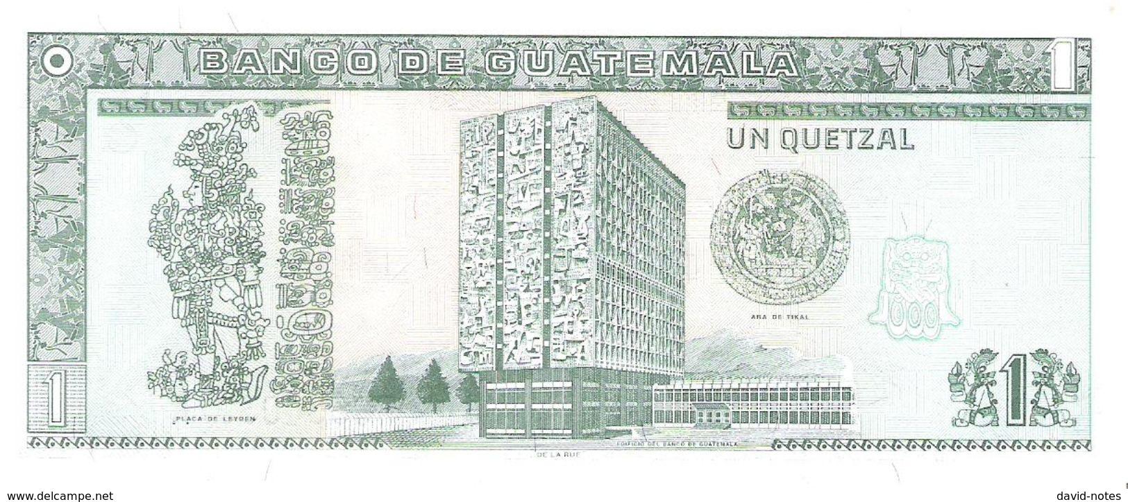 Guatemala - Pick 99 - 1 Quetzal 1998 - Unc - Guatemala