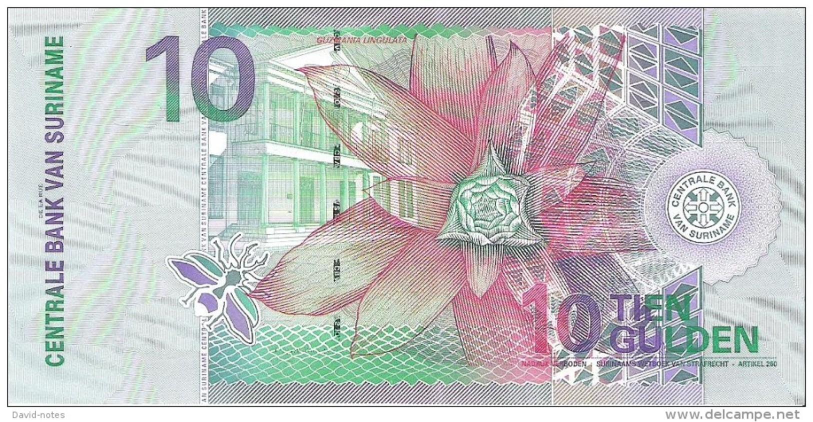 Suriname - Pick 147 - 10 Gulden 2000 - Unc - Surinam