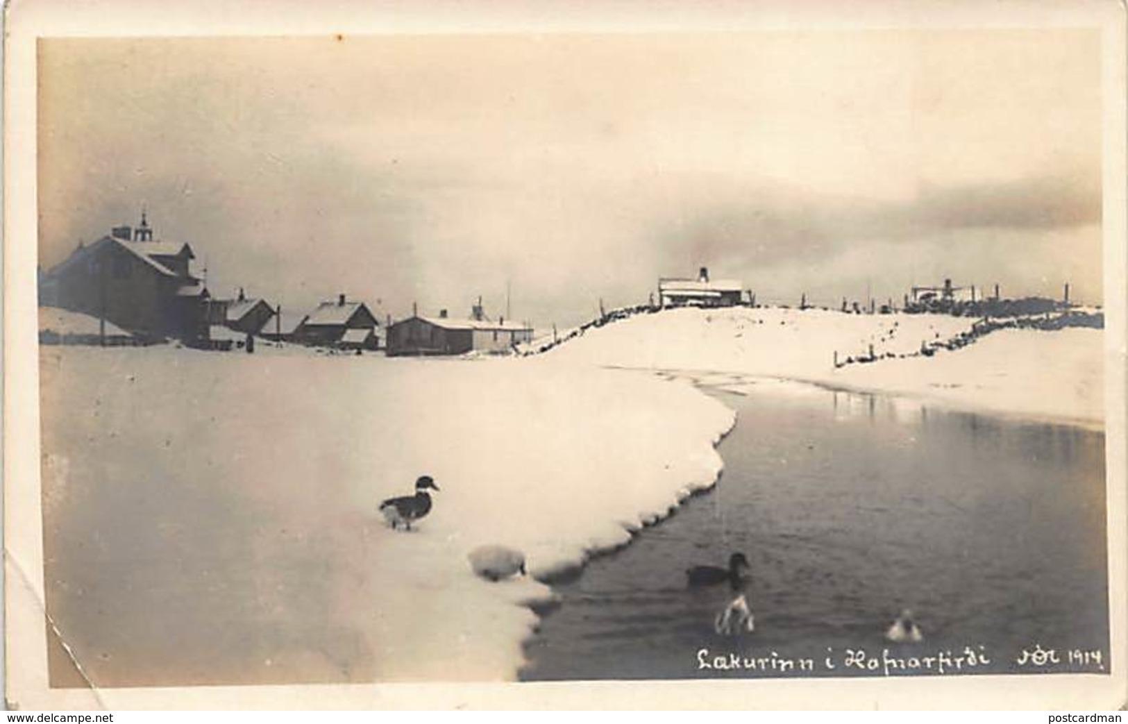 Iceland - Lakurinn I Hafnarfirde - Year 1914 - REAL PHOTO. - Iceland