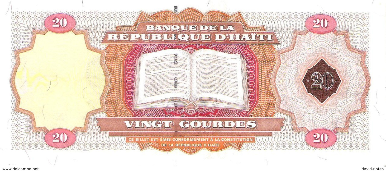 Haiti - Pick 271A - 20 Gourdes 2001 - Unc - Commemorative - Haiti