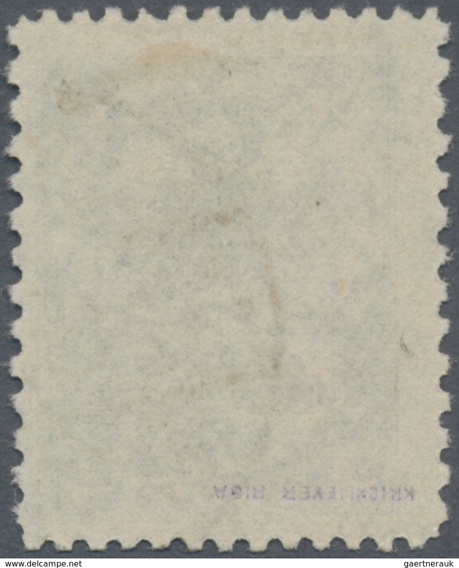 Lettland: 1923, For The Invalids 4 S + 10 S In Rare Perforation 11½ : 10, Used, Signed Krickmeyer. - Lettland