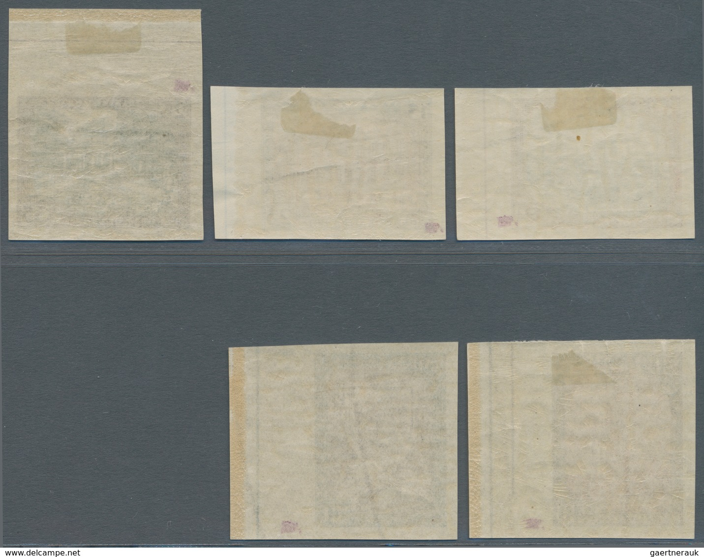 Lettland: 1925, 300 Years City Of LIBAU Imperforated Set, All With Large Margins. Traces Of Hinge On - Lettland