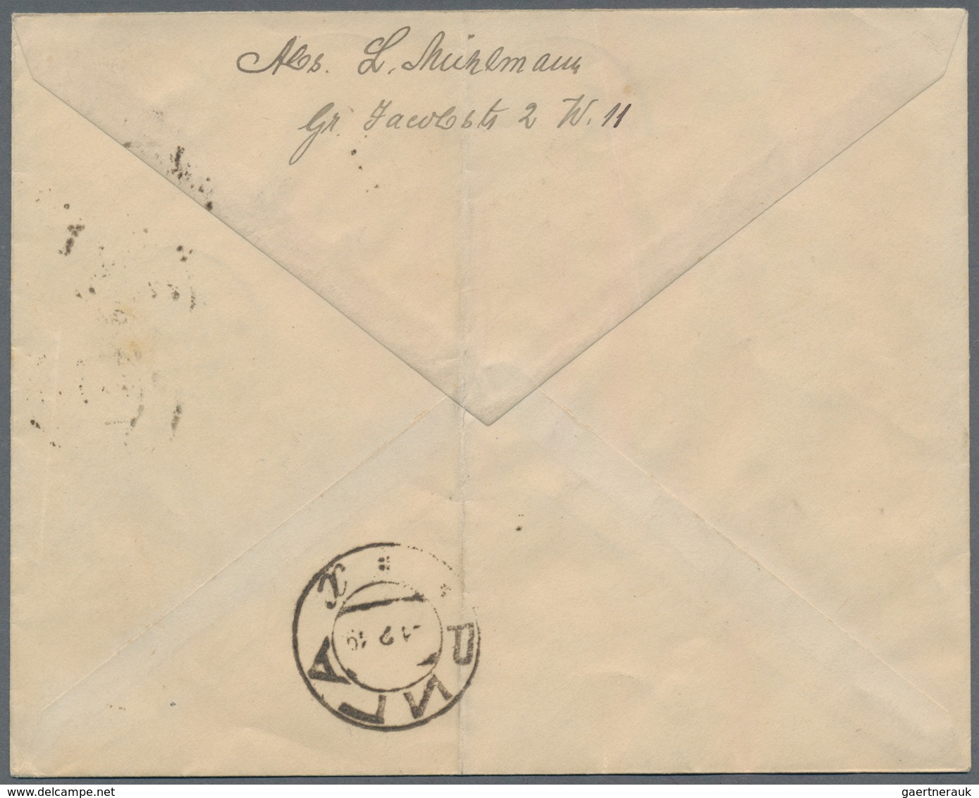 Lettland: 1919 Local Registered Cover (crease) From Riga Franked With 35 Kop. Chainbreaker And 1 + 3 - Lettland