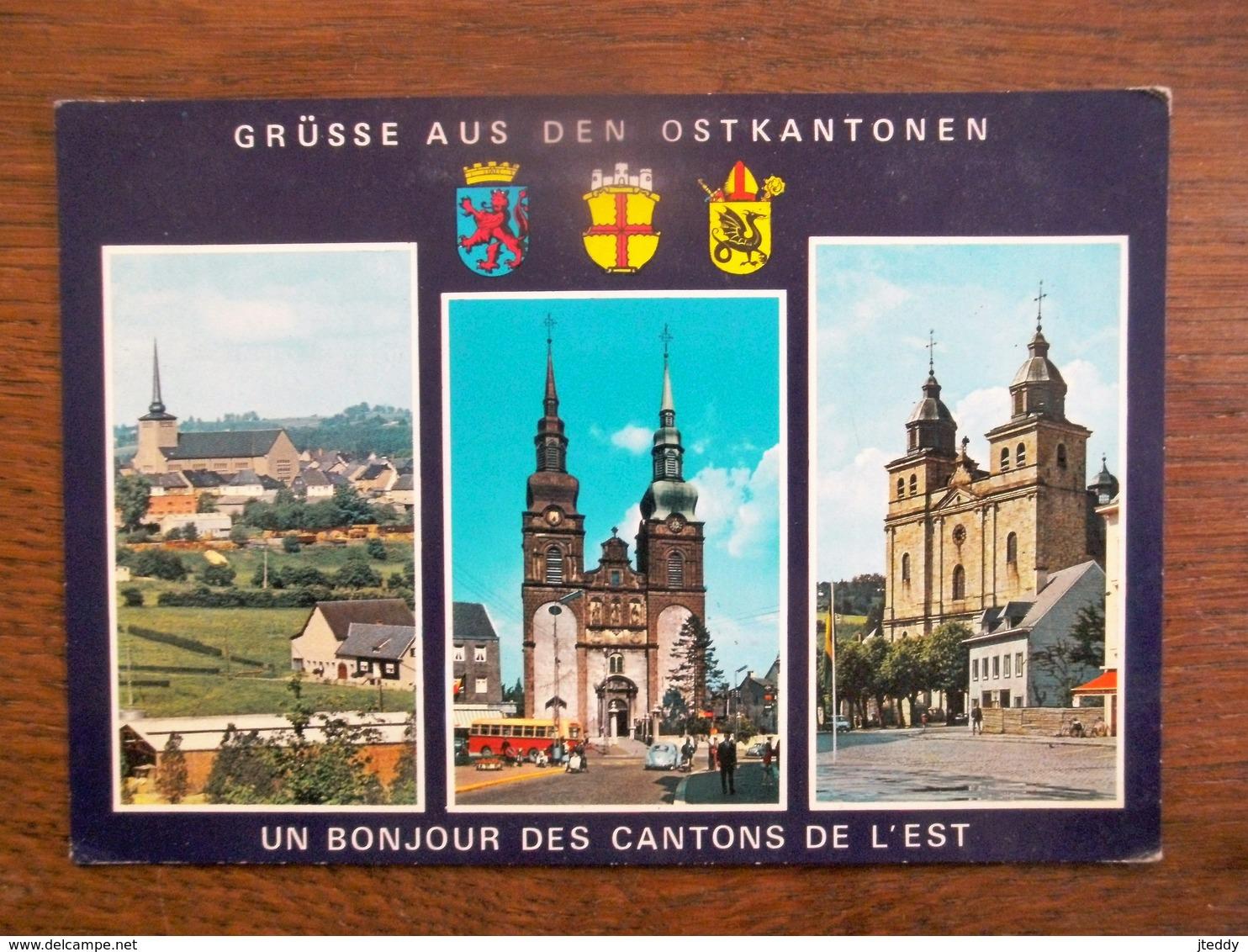 Oude Post Kaart CANTONE DE L' EST - Belgique