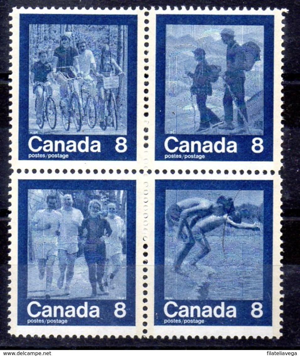 Serie De Canadá N ºYvert 526/29 ** Valor Catálogo 2.4€ - 1952-.... Règne D'Elizabeth II