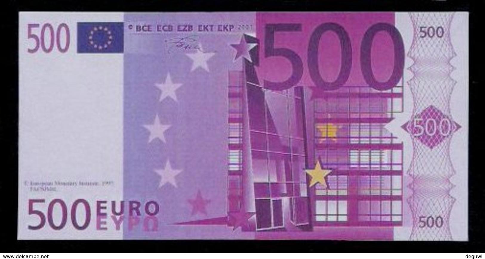 "Polymer-Test Note ""EMI 1997 FACSIMIL"" 500 EURO, Euro Size, Beids. Druck, RRR, UNC - Espagne"