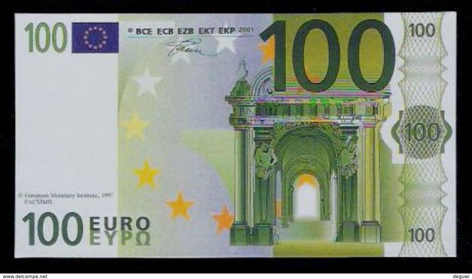 "Polymer-Test Note ""EMI 1997 FACSIMIL"" 100 EURO, Euro Size, Beids. Druck, RRR, UNC - Espagne"