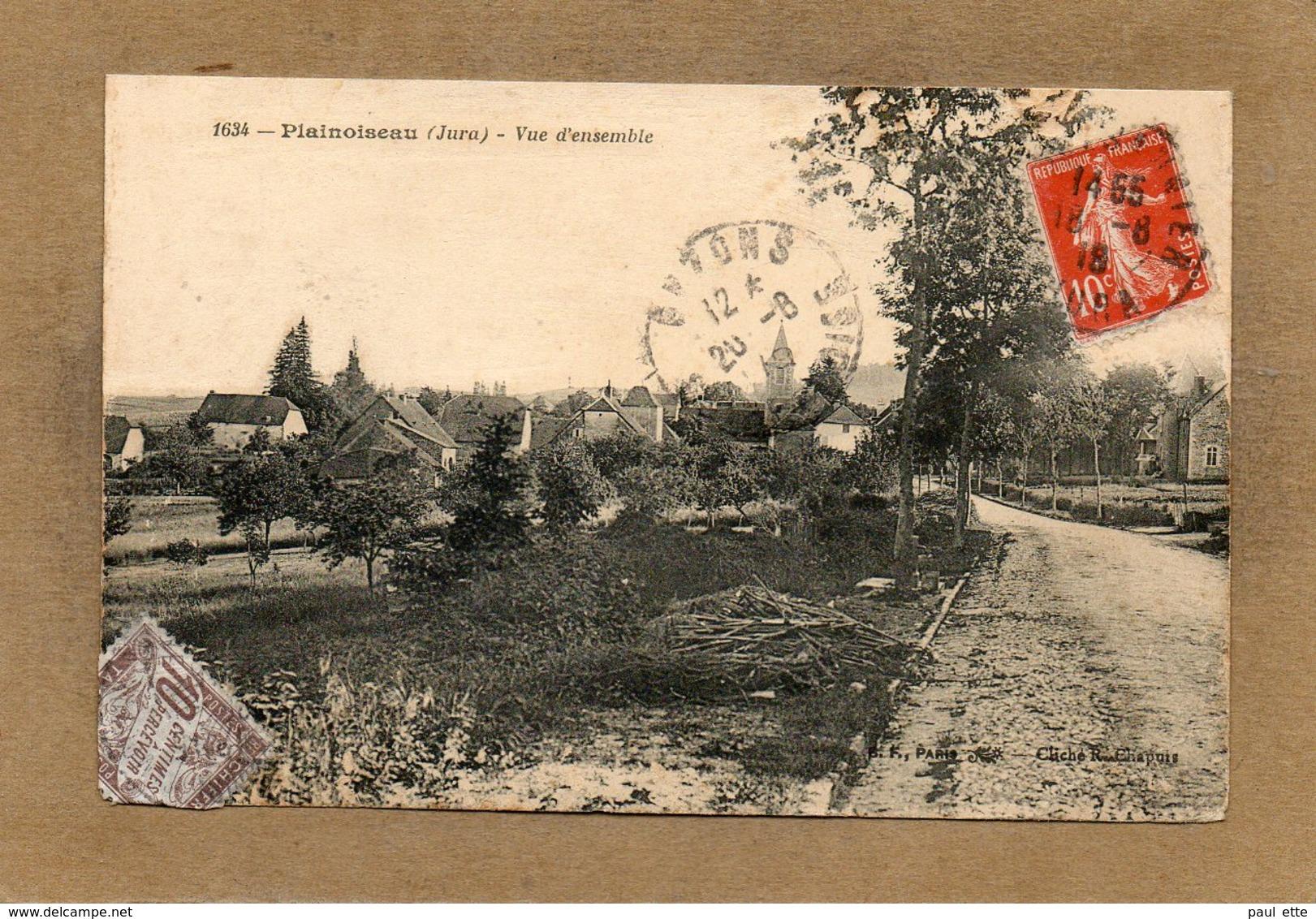CPA - PLAINOISEAU (39) - Aspect De L'entrée Du Bourg En 1918 - Altri Comuni
