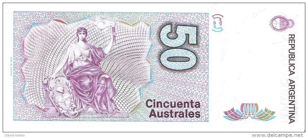 Argentina - Pick 326b - 50 Australes 1986 - 1989 - Unc - Argentine