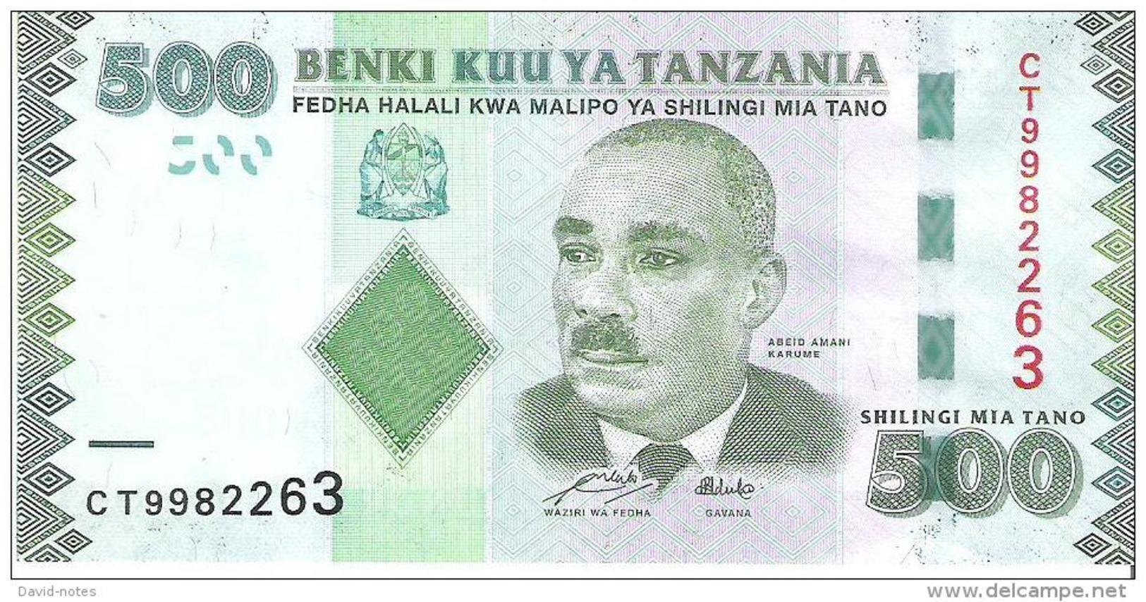 Tanzania - Pick 40 - 500 Shillings 2011 - Unc - Tanzanie
