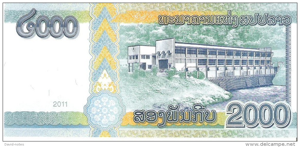 Laos - Pick 41 - 2000 Kip 2011 - Unc - Laos