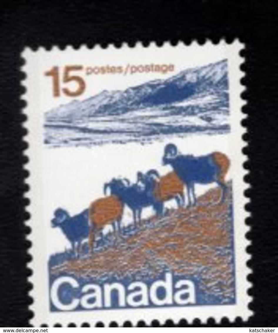 710914946 CANADAPOSTFRIS MINT NEVER HINGED POSTFRISCH EINWANDFREI  SCOTT 595 MOUNTAIN SHEEP - 1952-.... Règne D'Elizabeth II