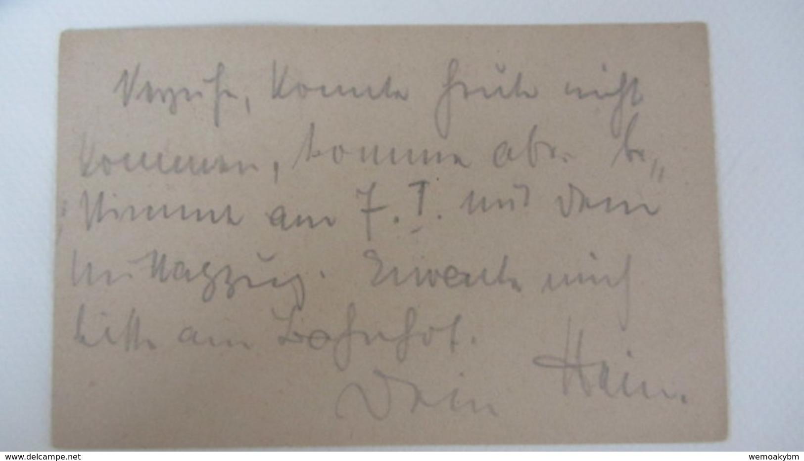 DR: GA Postkarte Mit 10 Pf Nationalversammlung + 5 Pf Germania, Stpl. GERSDORF (BZ. CHEMNITZ) Vom 6.1.20 Knr: P 115 - Deutschland
