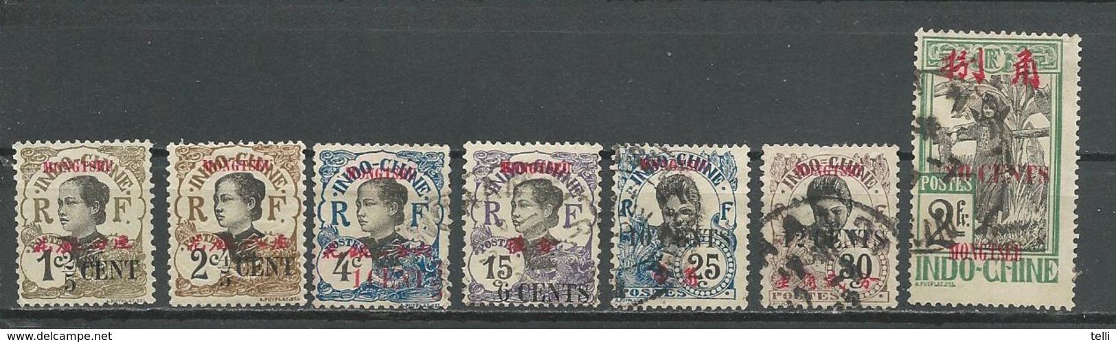 MONG TZEU Scott 51-53, 56, 58,59, 66 Yvert 51-53, 56, 58,59, 65 (7) * Et O 28,00 $ 1919 - Mong-tzeu (1906-1922)