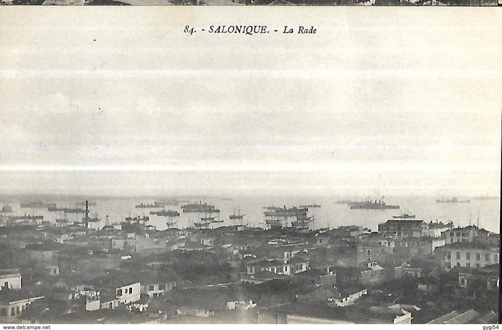 Salonique La Rade     CPA 1918 - Grèce