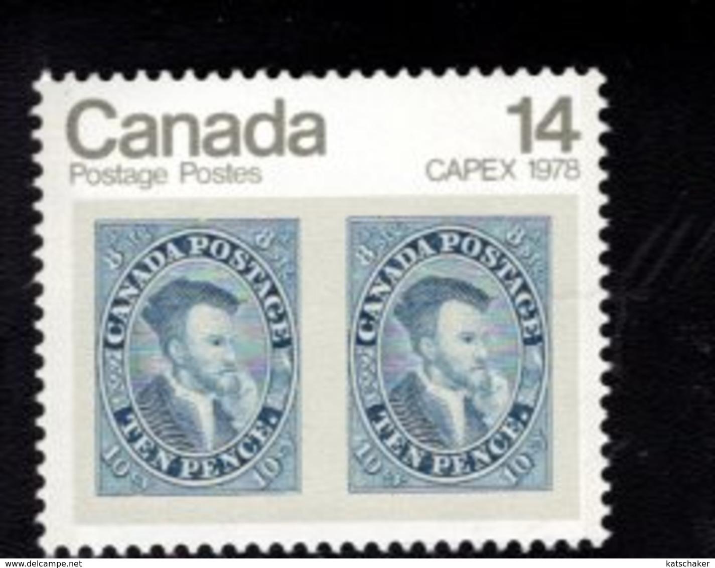 710919743 CANADAPOSTFRIS MINT NEVER HINGED POSTFRISCH EINWANDFREI  SCOTT 754 Capex 78 - 1952-.... Règne D'Elizabeth II