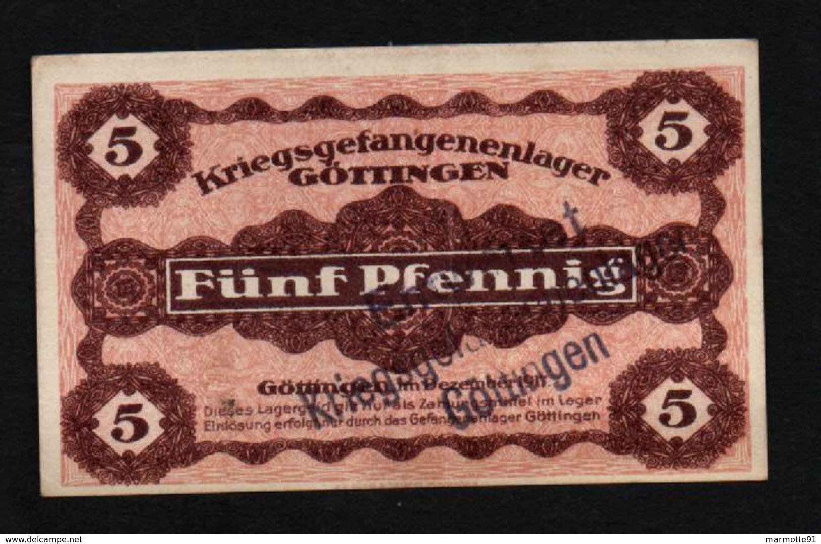GEFANGENENLAGER GELD LAGERGELD BILLET CAMP GOTTINGEN PRISONNIER ALLEMAGNE KG POW GUERRE 1914 1918 - Autres