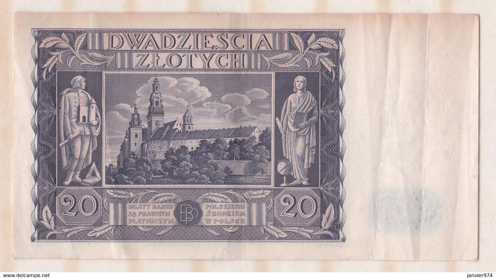 Pologne 20 Zlotych 11 Novembre 1936 - Pologne