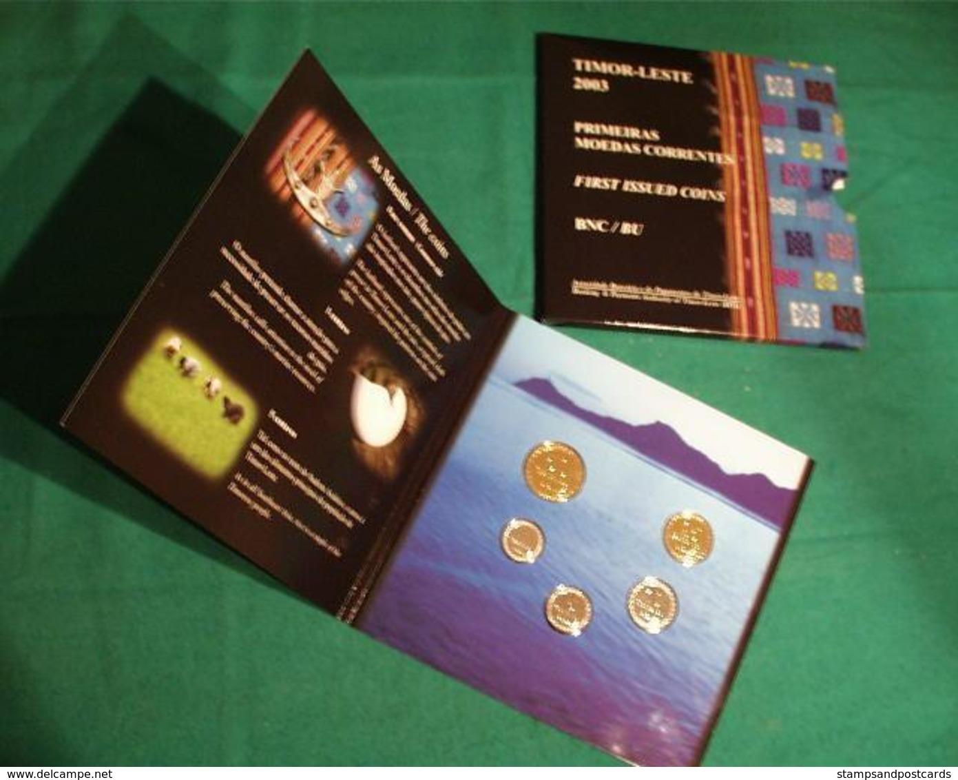 EAST TIMOR First Set Coins Independence 2003 BU Folder Timor Est Timor Leste - Timor