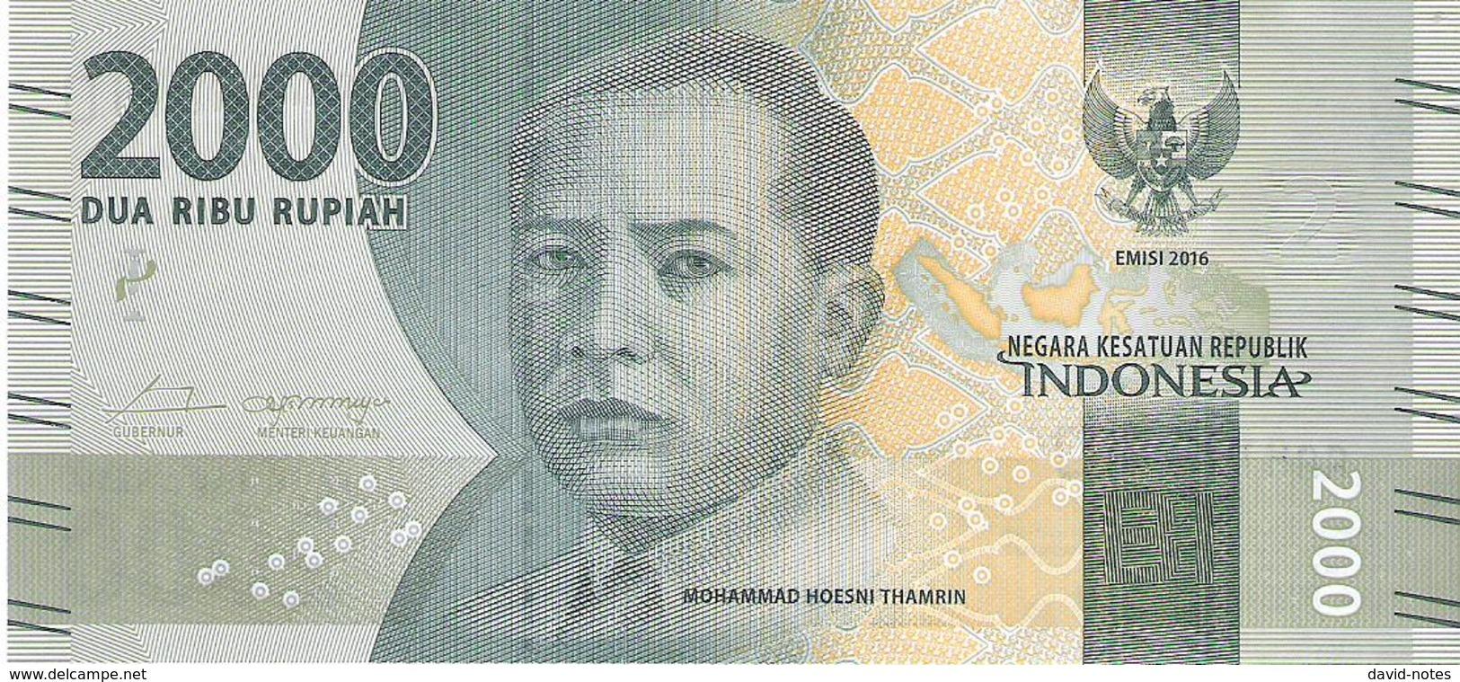 Indonesia - Pick 155 - 2000 Rupiah 2016 - Unc - Indonésie