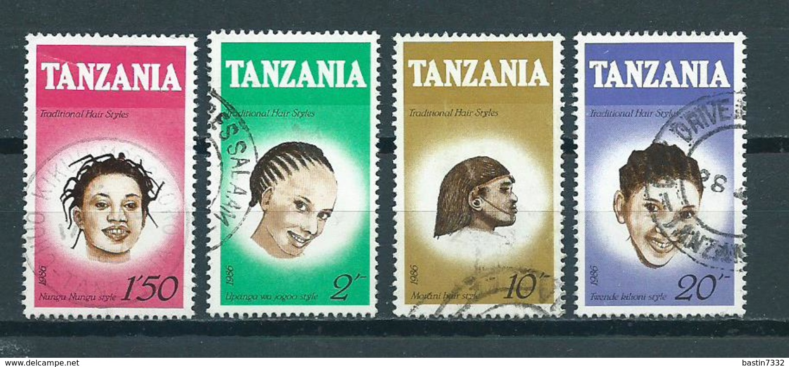 1987 Tanzania Complete Set Hair Used/gebruikt/oblitere - Tanzania (1964-...)