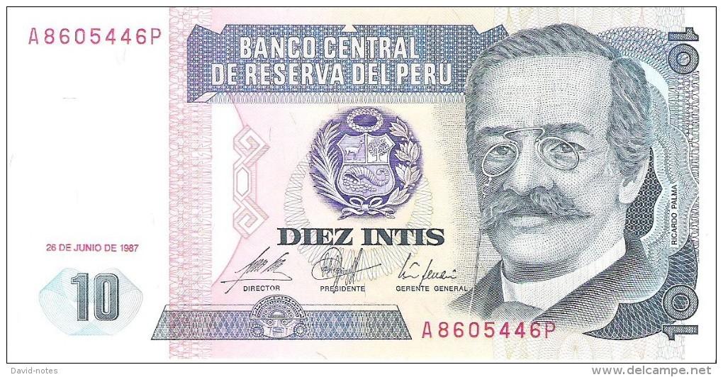 Peru - Pick 129 - 10 Intis 1987 - Unc - Pérou