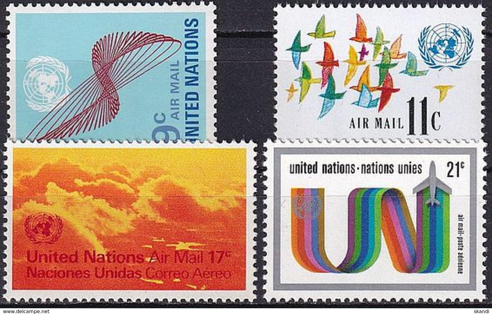 UNO NEW YORK 1972 Mi-Nr. 245/48 ** MNH - New York -  VN Hauptquartier