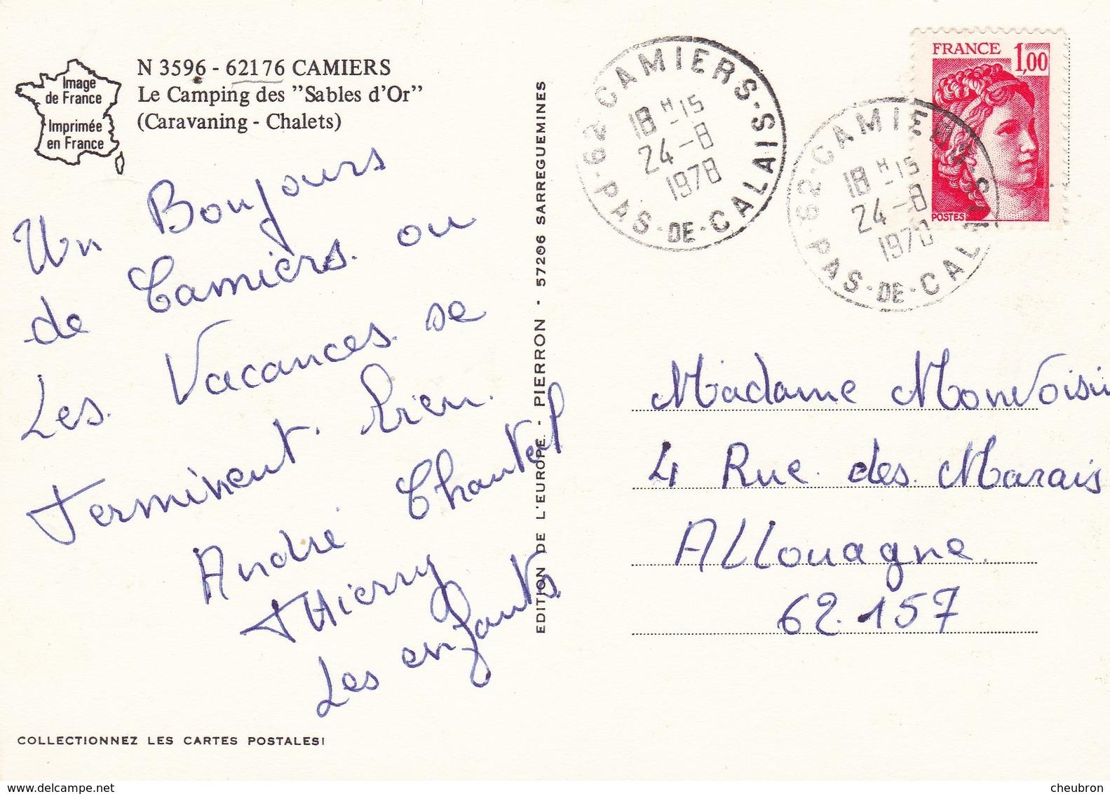 62. CAMIERS. LE CAMPING DES SABLES D'OR. ANIMATION. ANNEE 1978 - Autres Communes