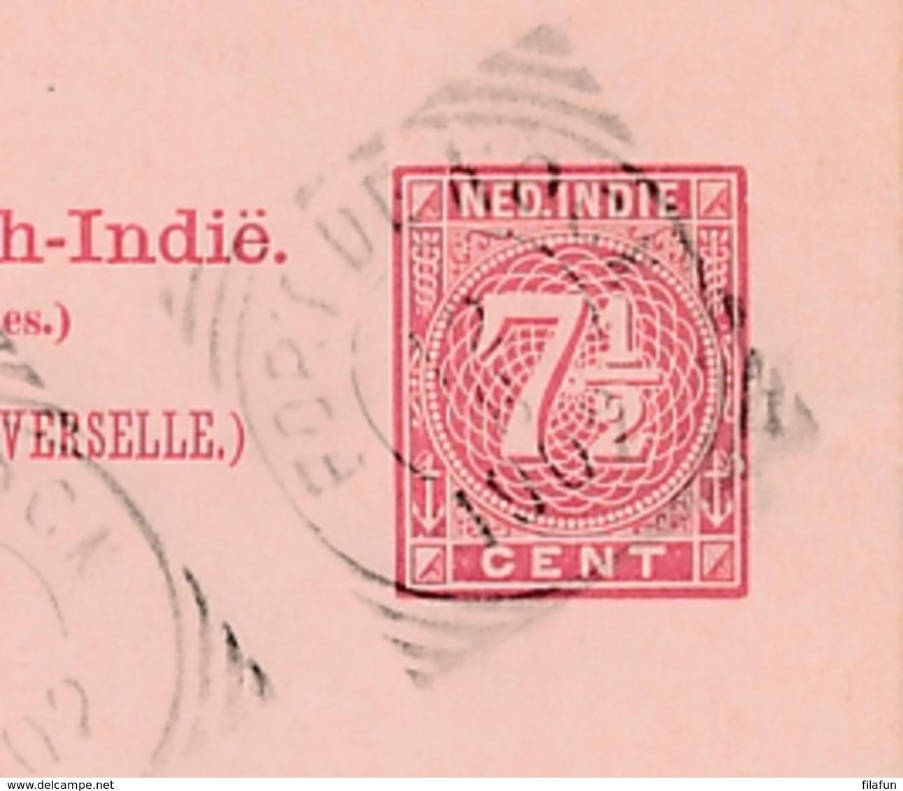 Nederlands Indië - 1902 - 7,5 Cent Briefkaart G16 Van VK FORT De KOCK Naar GR Bennekom / Nederland - Nederlands-Indië