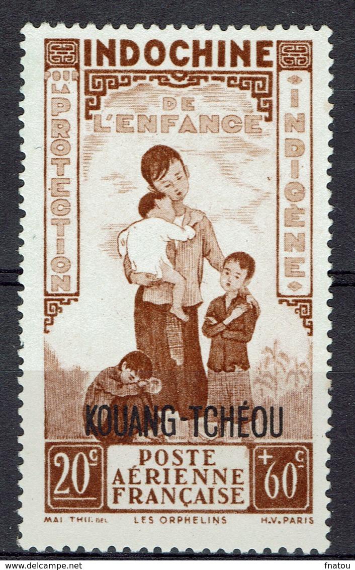 """Kouang-Tcheou, Guangzhouwan (French China), """"Childhood"""", 20c. + 60c., 1942, MNG VF  Airmail - Kouang-Tcheou (1906-1945)"""