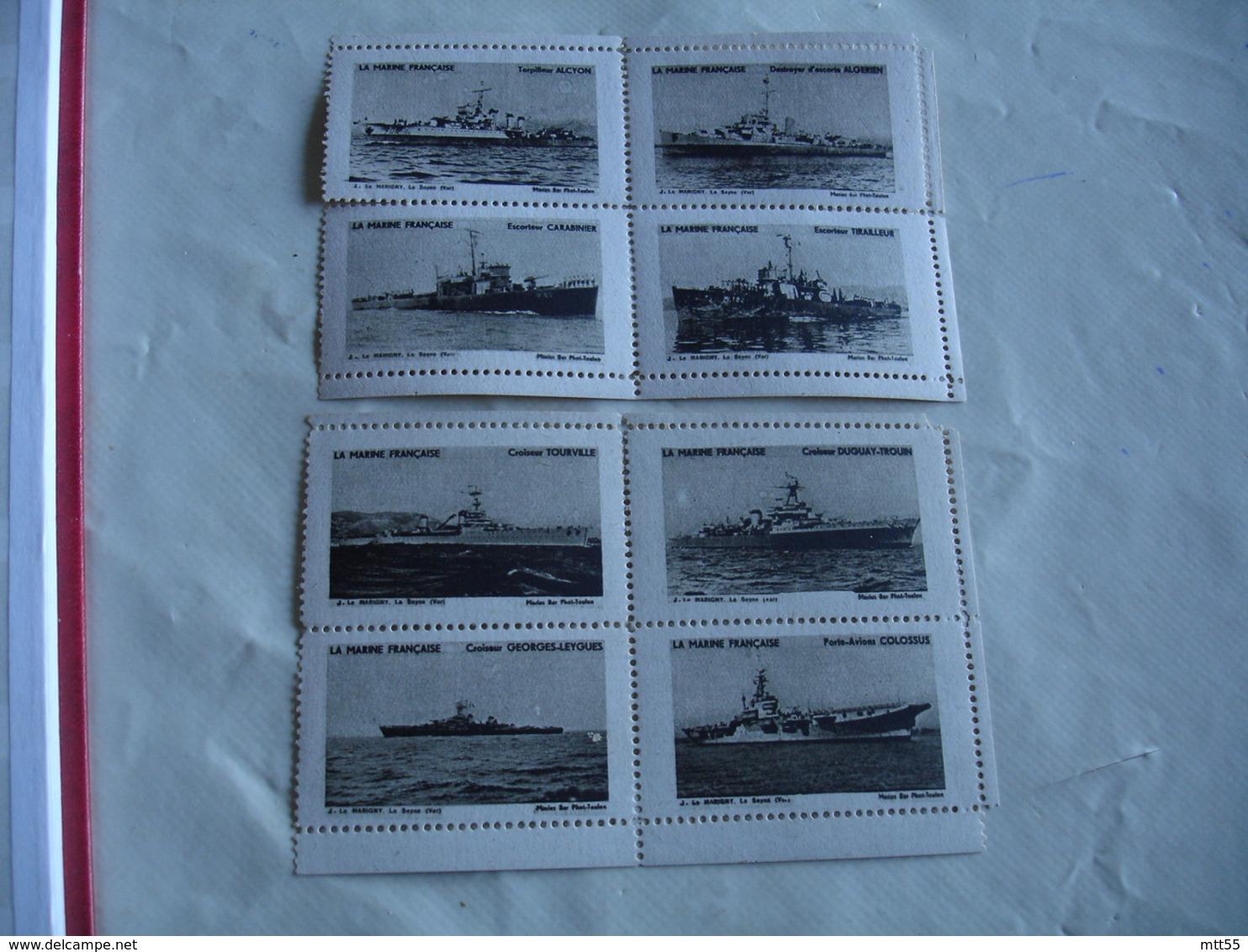 Erinnophilie  Lot 2 Bloc De 4 Theme Marine Bateaux Militaires  Vignette Timbre - Commemorative Labels