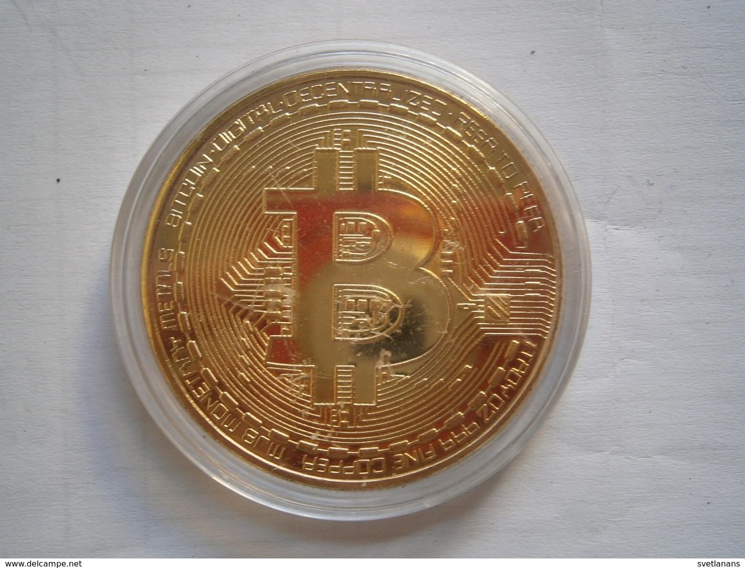 Bitcoin BTC 2013 ROCS APPROVED Commemorative Round Collectors Coin Bit Coin Plastic Case Not Gold Digital Era Souvenir - Other Coins