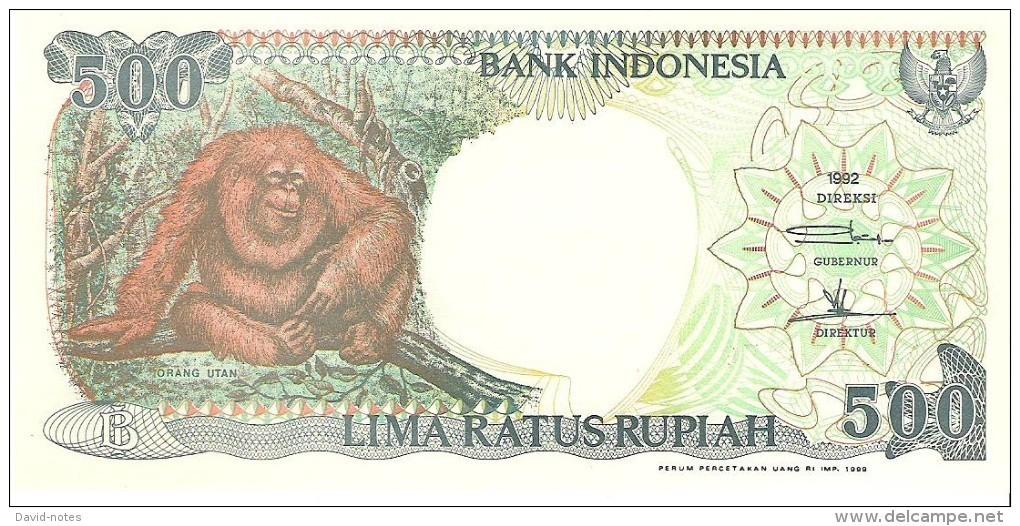 Indonesia - Pick 128 - 500 Rupiah 1992 - Unc - Indonésie