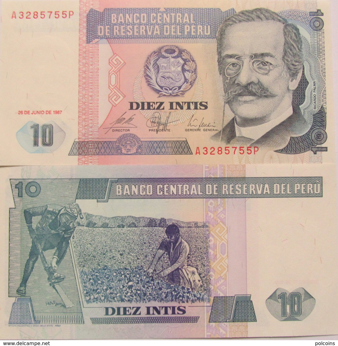 Peru 1987 - 10 Intis - Pick 129 UNC - Pérou