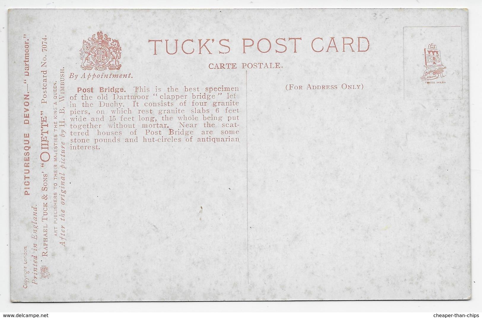 Dartmoor - Postbridge - H.B. Wimbush - Tuck Oilette 7071 - England