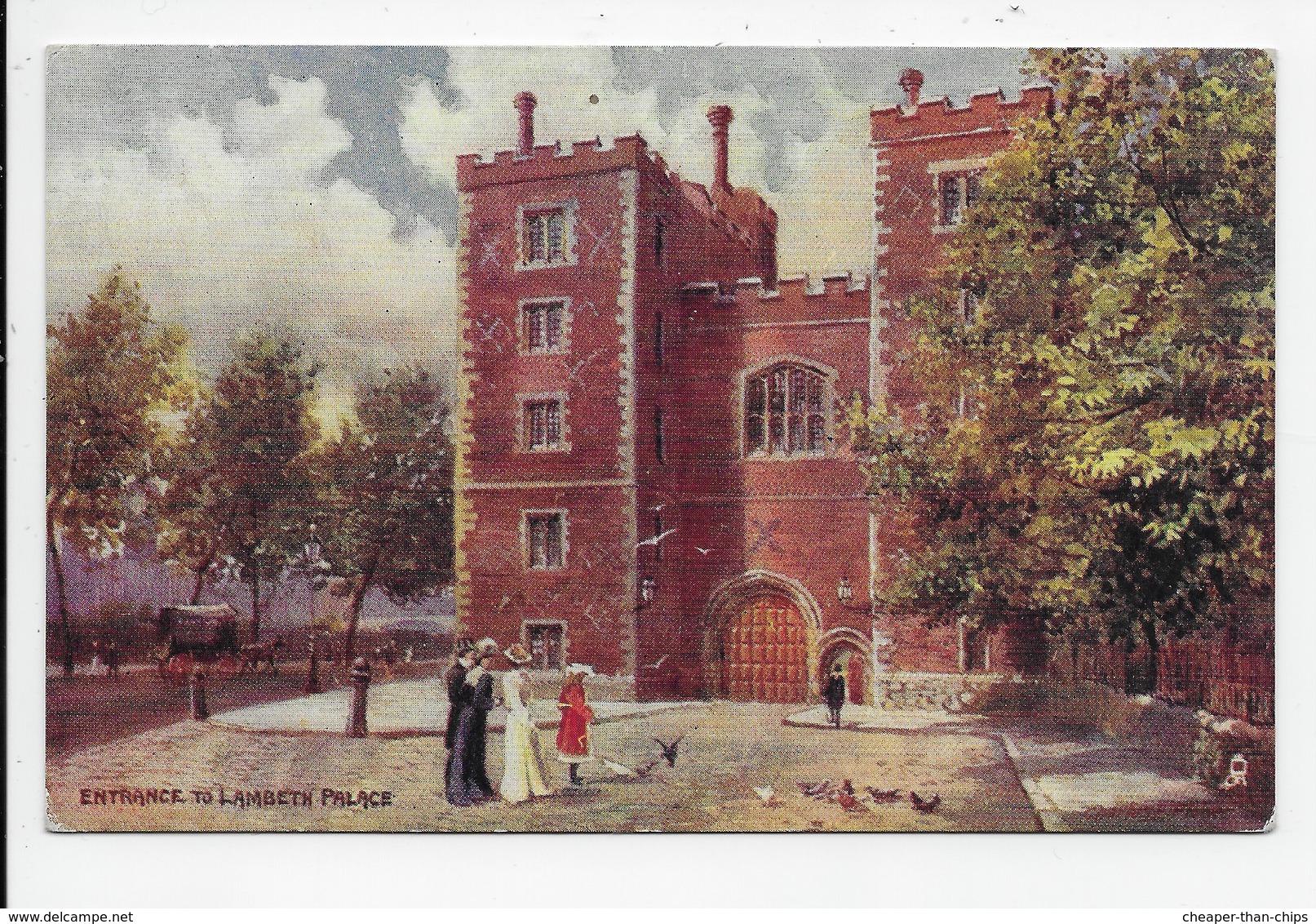 London - Entrance To Lambeth Palace - Tuck Aquarette 6357 - London
