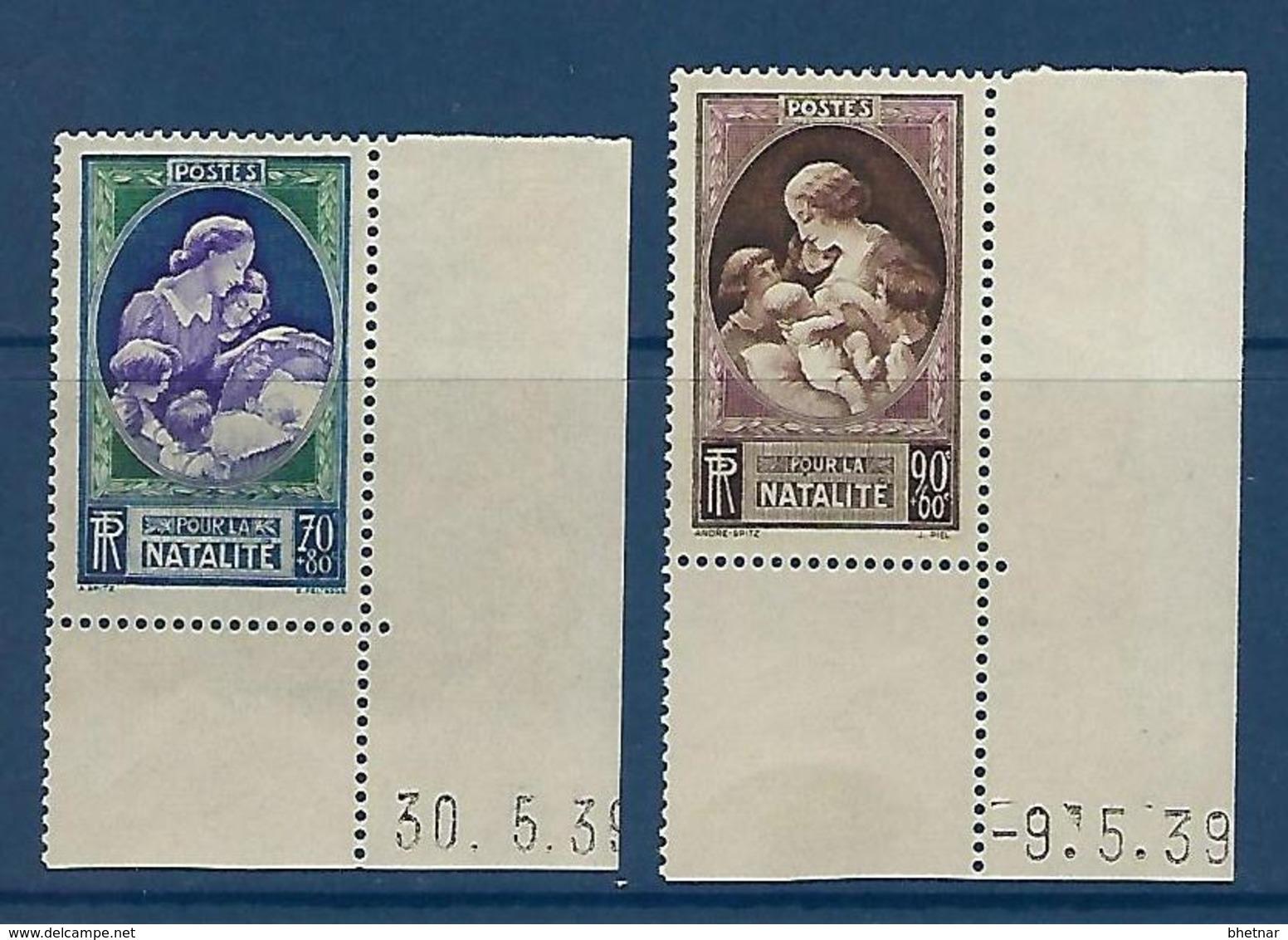 """FR YT 440 & 441 """" En Faveur De La Natalité """" 1939 Neuf** BDF Daté - France"""