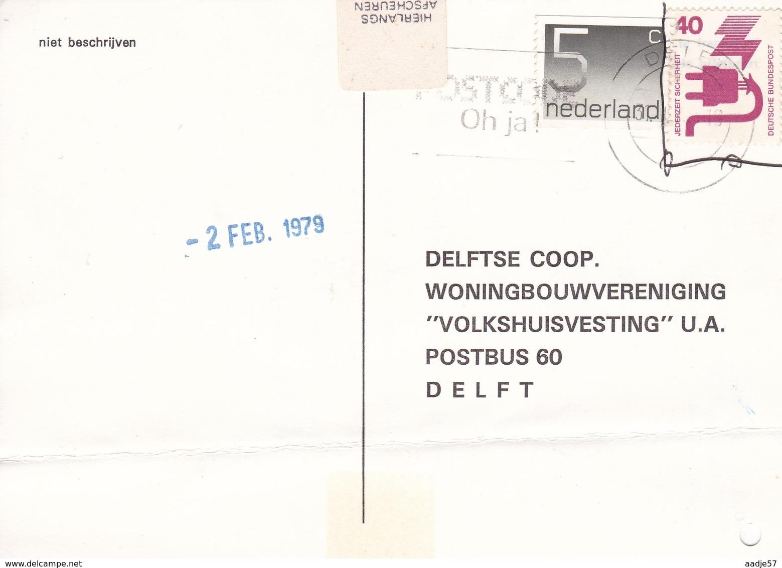 NETHERLANDS - BRIEFKAART 1979 Met Duitse En Nederlandse Postzegel - Unclassified