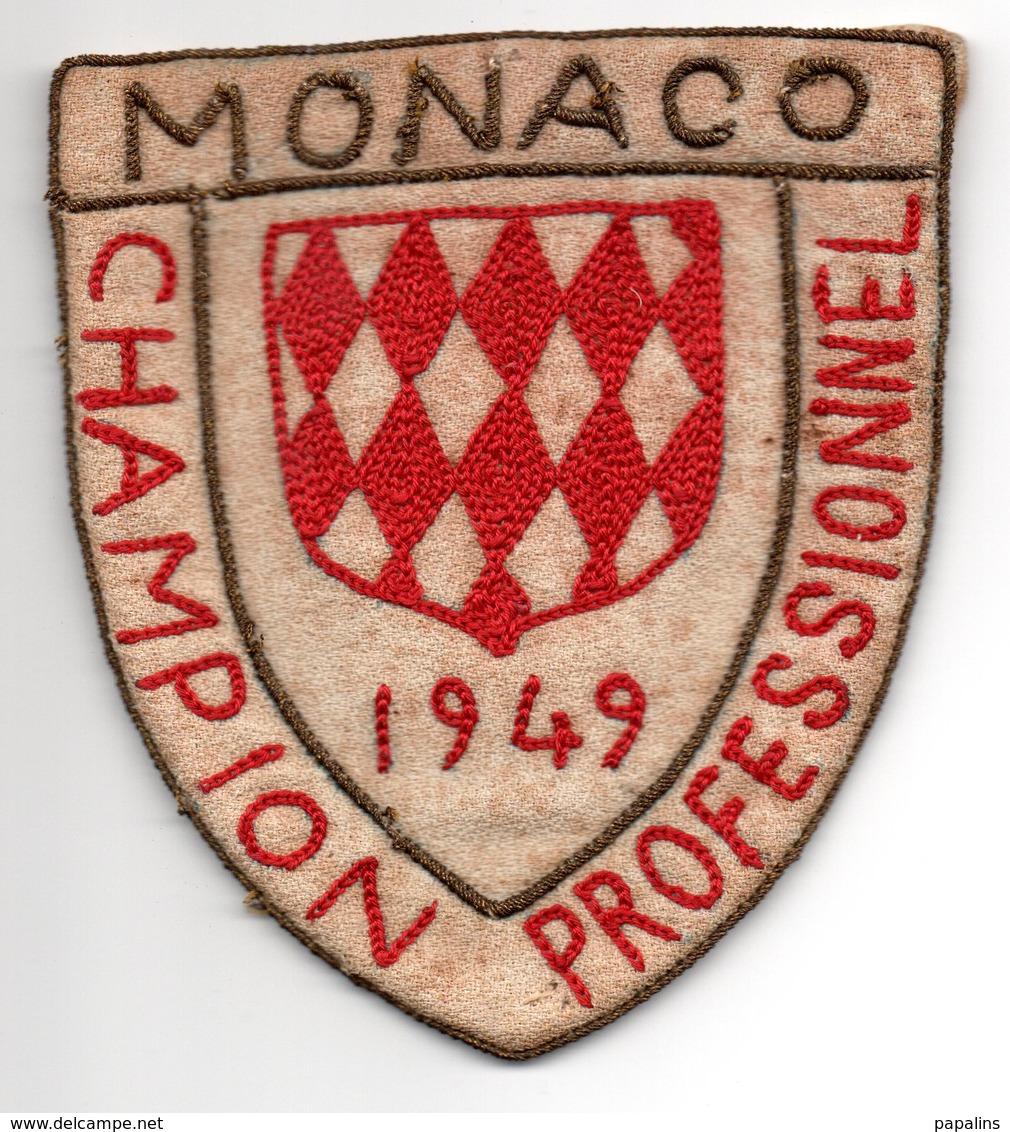 MONACO -- MONTE CARLO --- RARE Ecusson Tissu --- Champion Professionnel 1949 - Patches