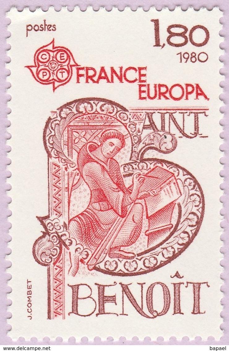 N° Yvert & Tellier 2086 - Timbre De France (Année 1980) - MNH - Saint Benoit Patron De L'Europe - Francia