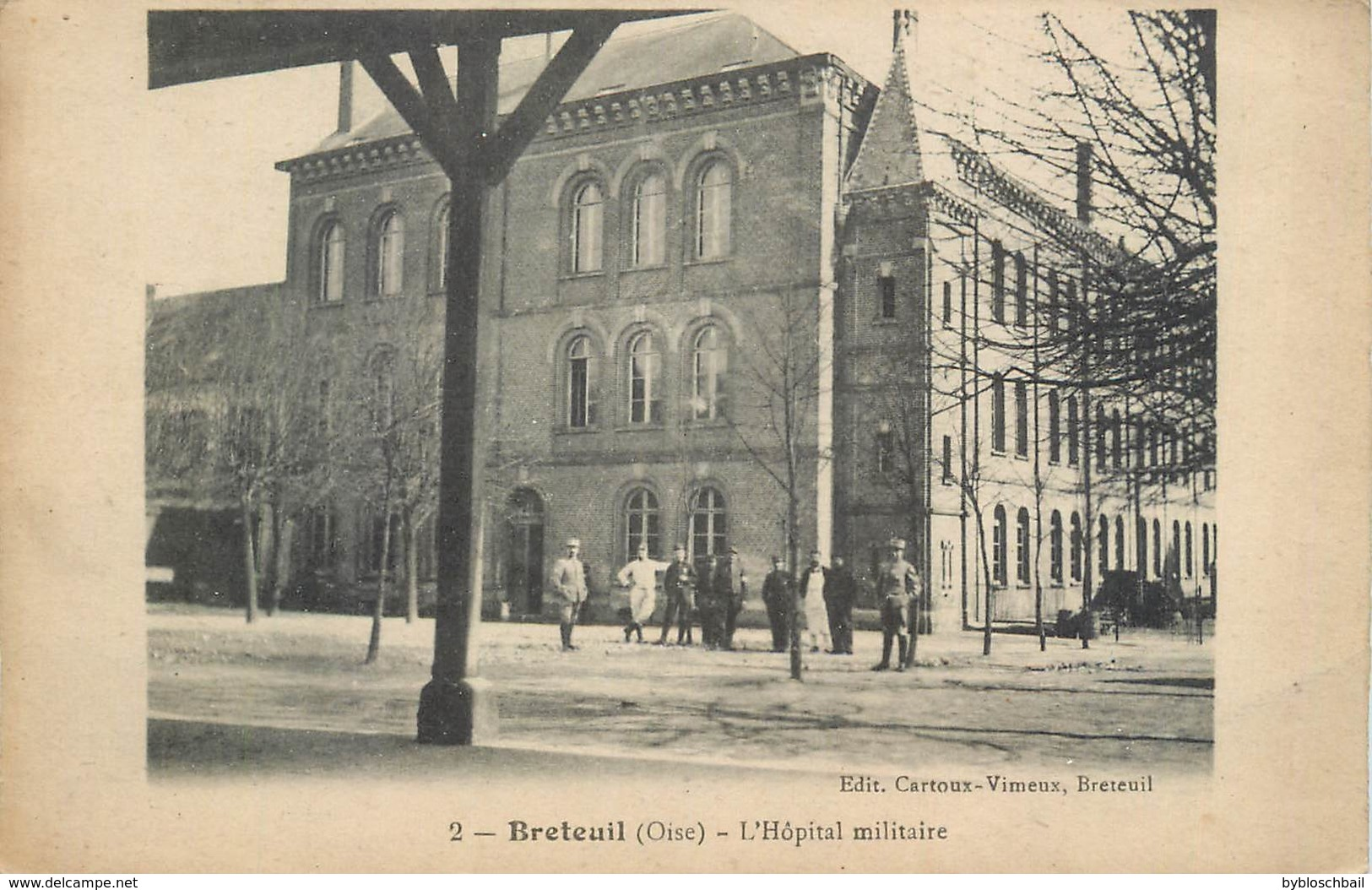 CPA 60 Oise Breteuil L'Hopital Militaire Militaria - Breteuil