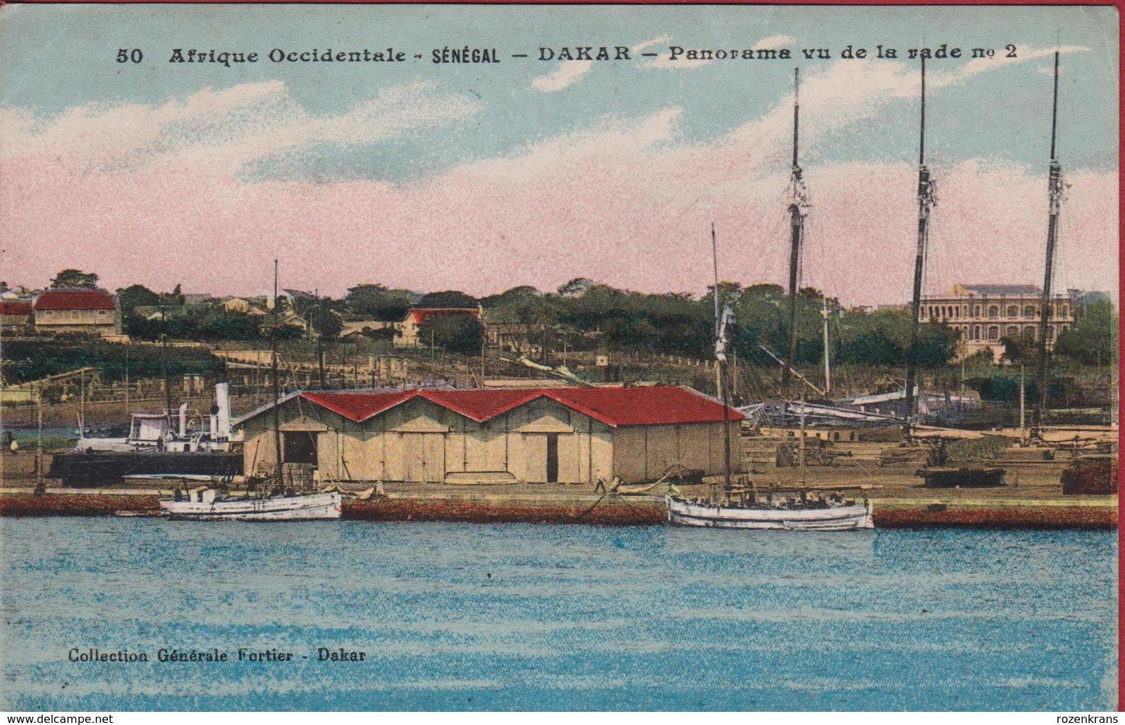 Senegal 1919 Senegal Dakar Panorama Vu De La Rade Nr. 2 Les Quais Le Port Harbour Afrika Africa Afrique Occidentale (pli - Sénégal
