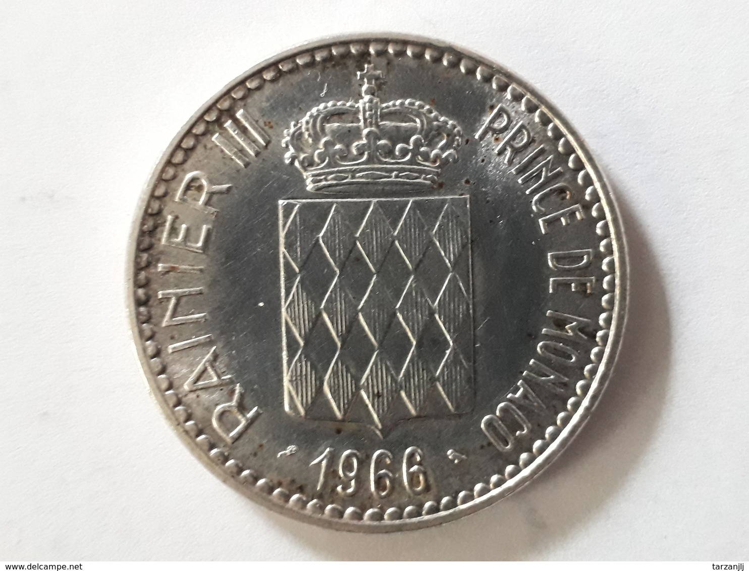 10 Francs 1966 De Monaco Charles III 1856-1889 Argent - Monaco