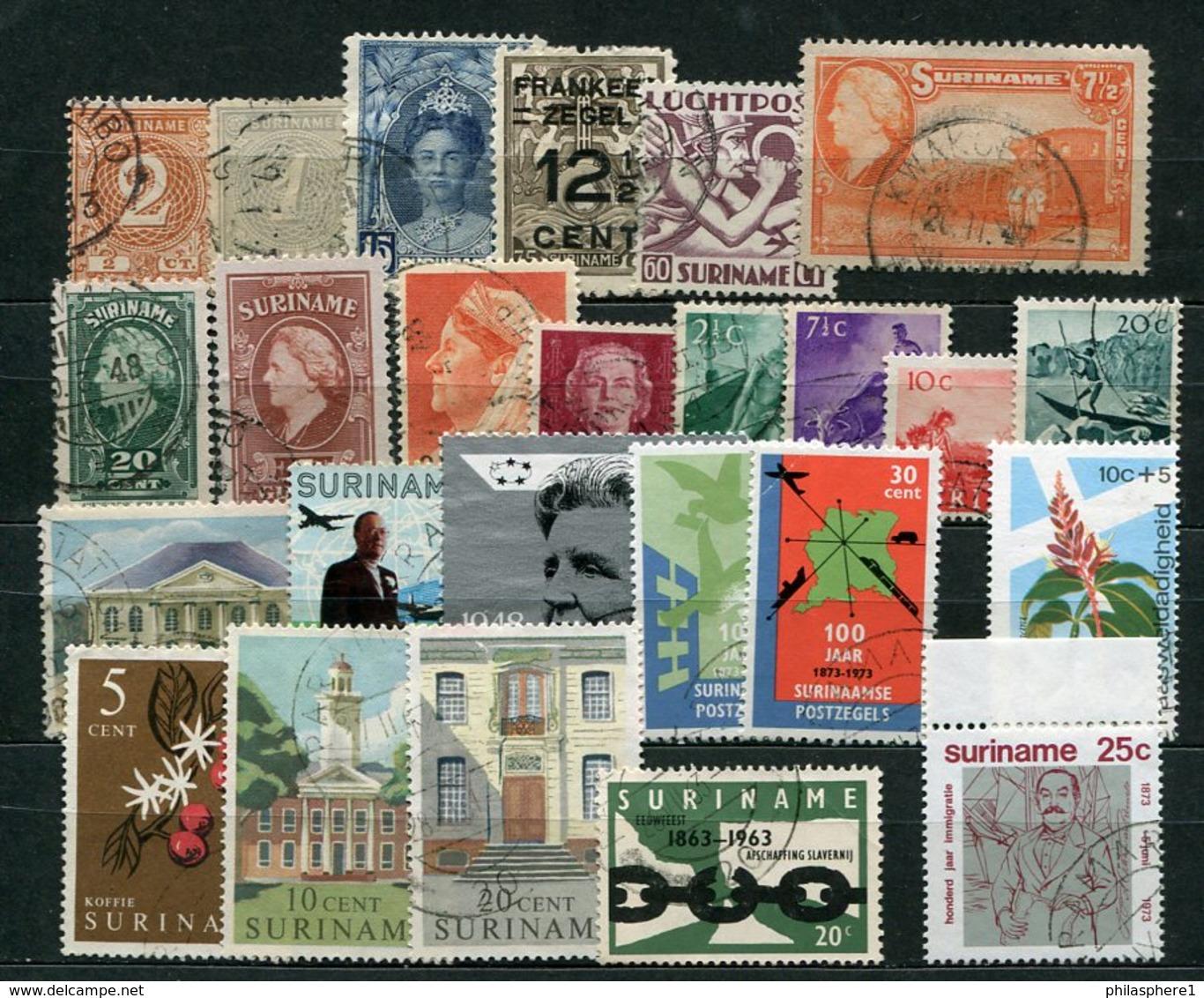 Surinam Lot         O  Used       (047) - Surinam ... - 1975