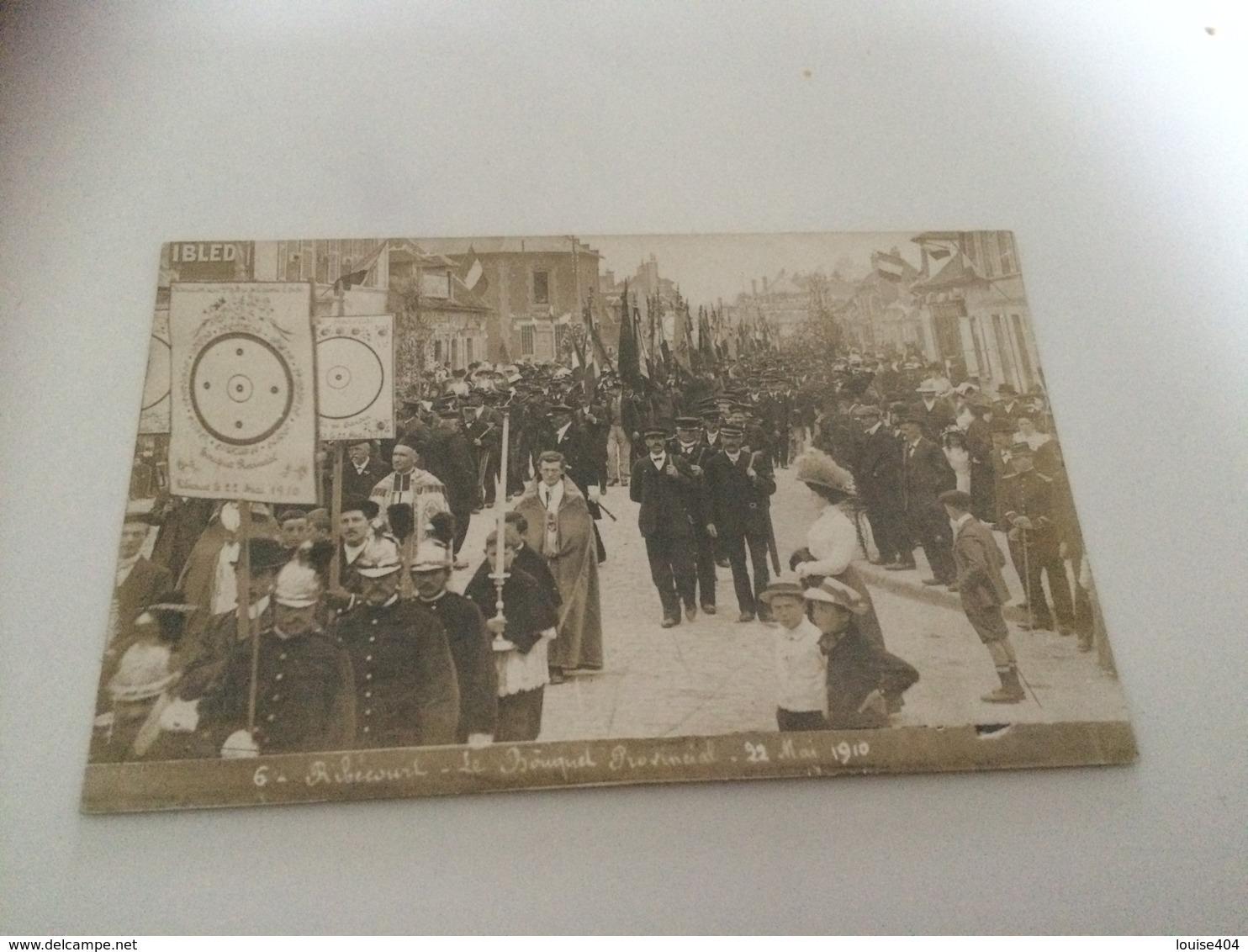 BN - 1400 - RIBECOURT - Le Bouquet Provincial - 22 Mai 1910 - Tir à L'Arc