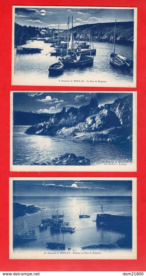 29 -  Moëlan Sur-Mer : Lot De 6 Cpa - Moëlan-sur-Mer
