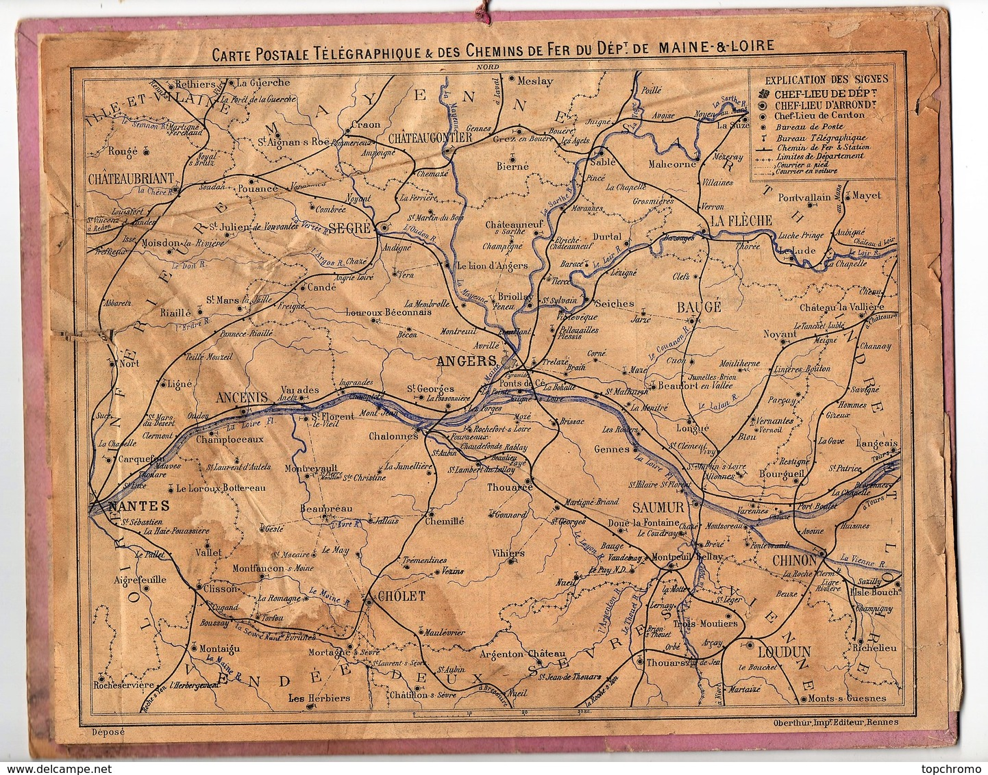 Calendrier Almanach Des Postes Et Télégraphes 1891 Oberthur Les Bulles De Savon Maine Et Loire - Calendari
