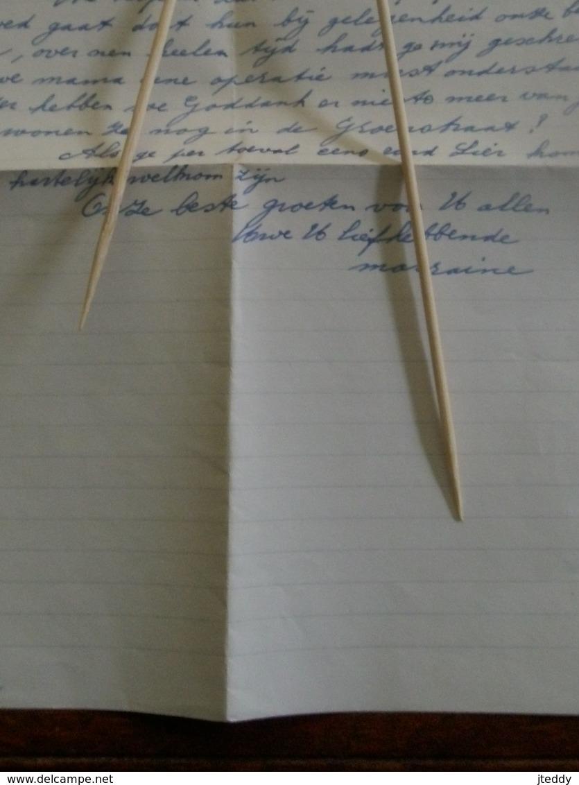 Oude Brief Omslag Met Brief  1950 Met Zegel        Pasteibakkerij  H  .  LAMBERT -  RUTTEN   LIER - Banque & Assurance